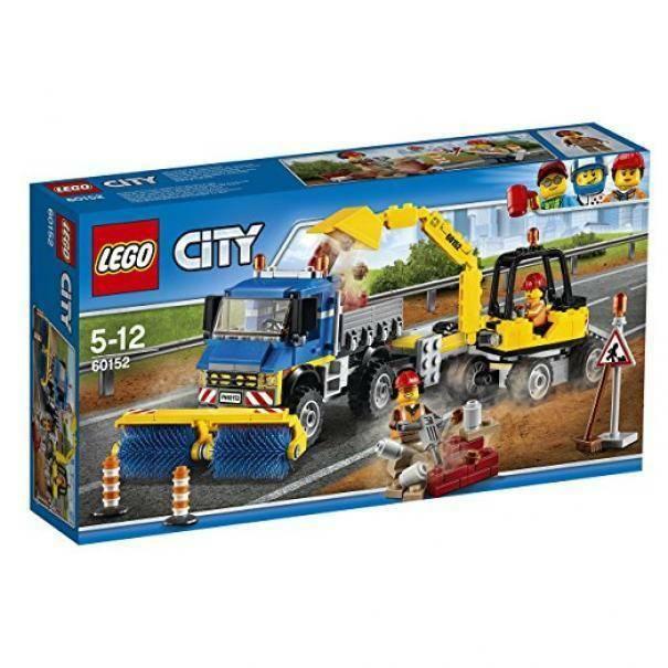 lego lego spazzatrice ed escavatore