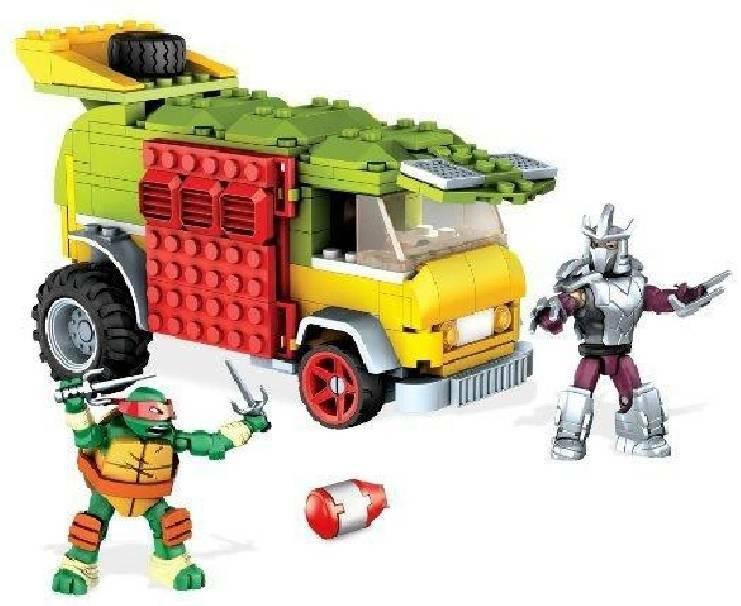 mega bloks mega bloks furgone turtle party tartarughe ninja