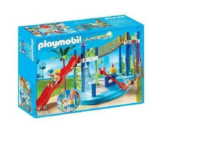 playmobil playmobil area gioco con scivoli e doccia