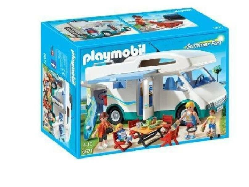 playmobil playmobil camper di villeggianti
