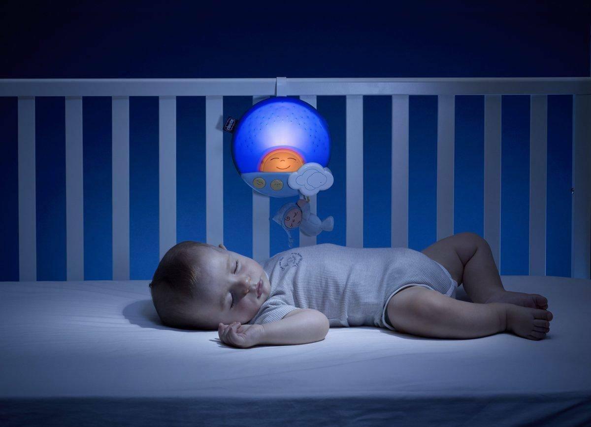 chicco chicco proiettore carillon pennello tramonto blu