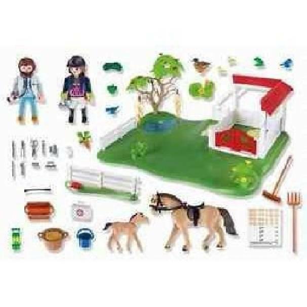 playmobil playmobil superset clinica dei pony