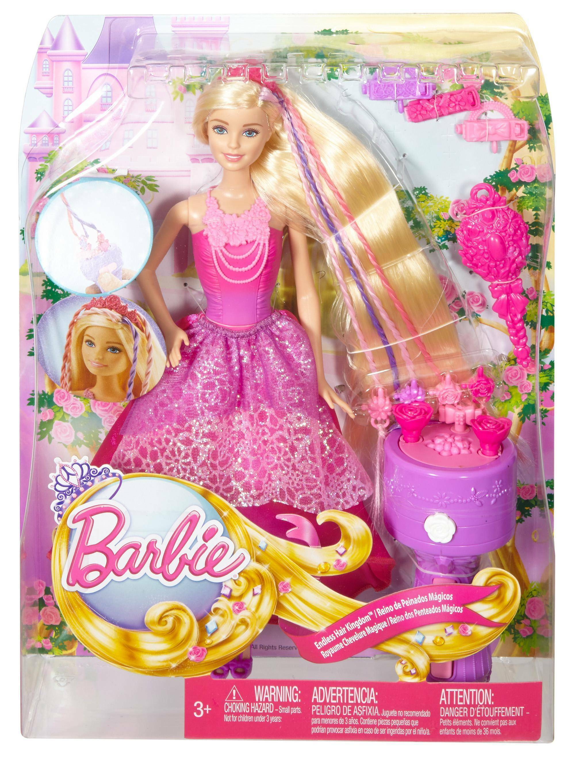 mattel mattel barbie principessa chioma da favola