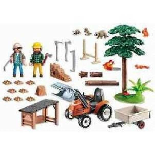 playmobil playmobil boscaioli al lavoro