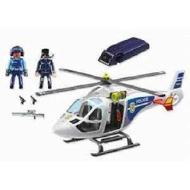 playmobil playmobil elicottero della polizia con luci di avvistamento