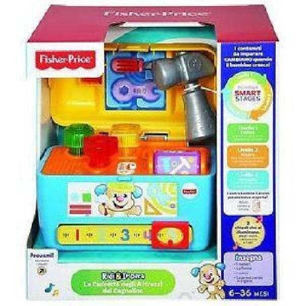 fisher price fisher price cassetta attrezzi cagnolino