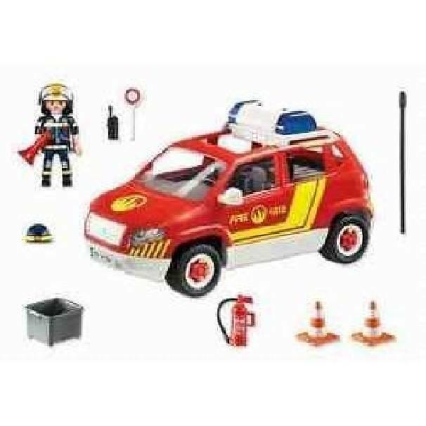 playmobil playmobil auto del caposquadra vigili del fuoco