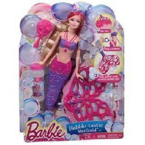 mattel mattel bambola barbie sirena magica coda bolle di sapone arcobaleno
