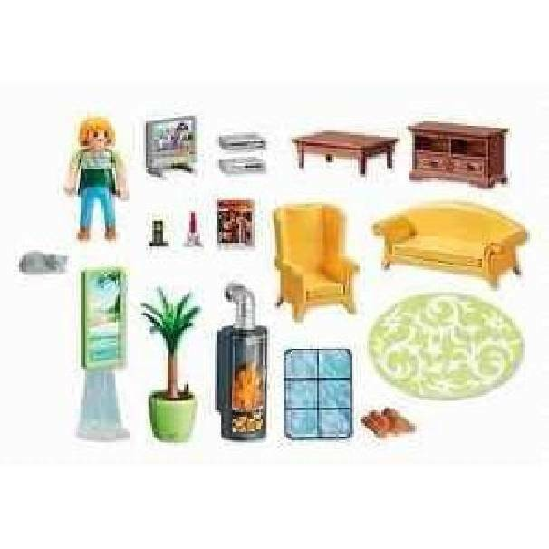 playmobil playmobil soggiorno con stufa