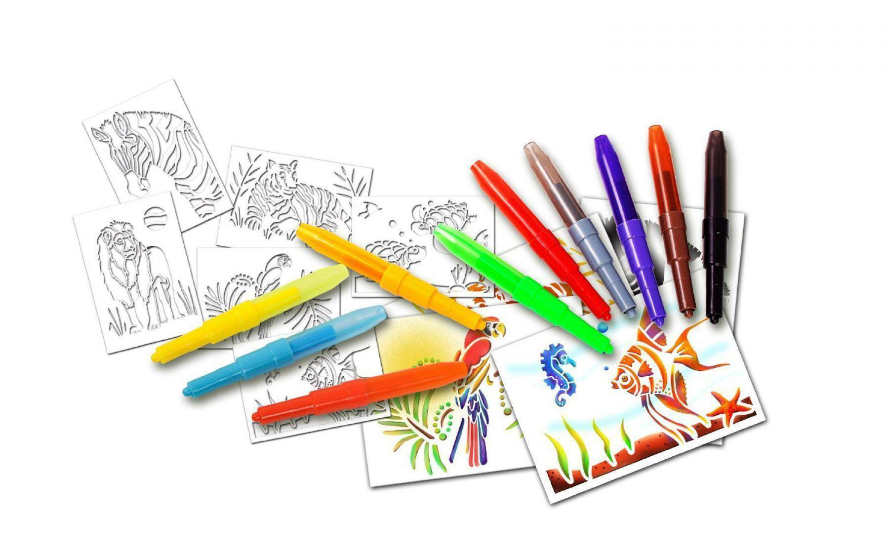 auguri preziosi auguri preziosi blopens activity kit 10 penne e 6 stencil animali