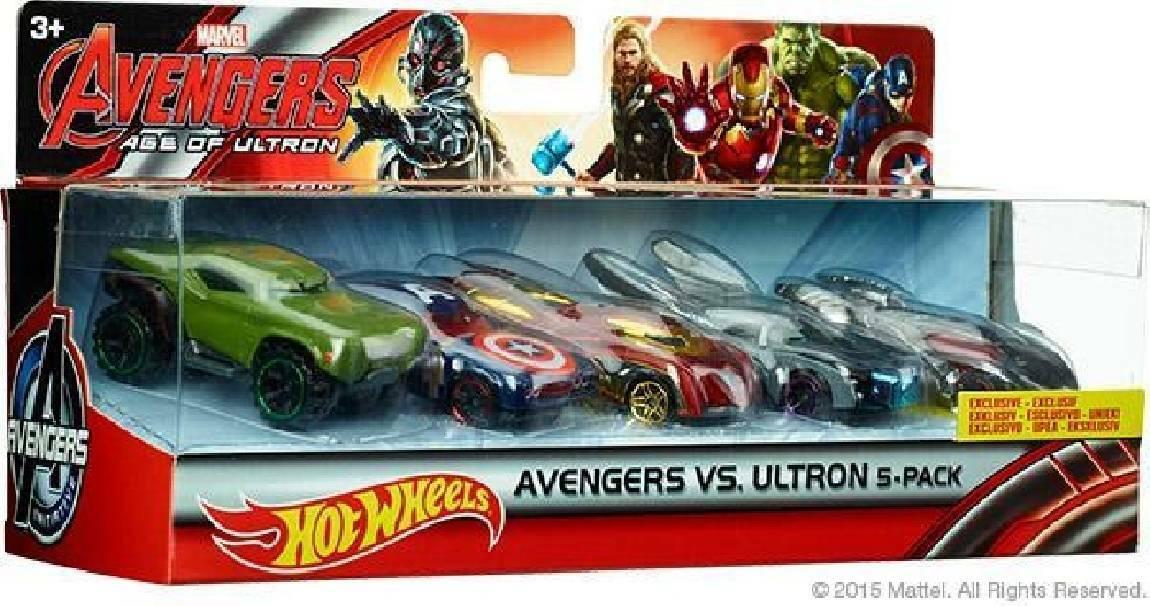 mattel mattel hot wheels avengers set
