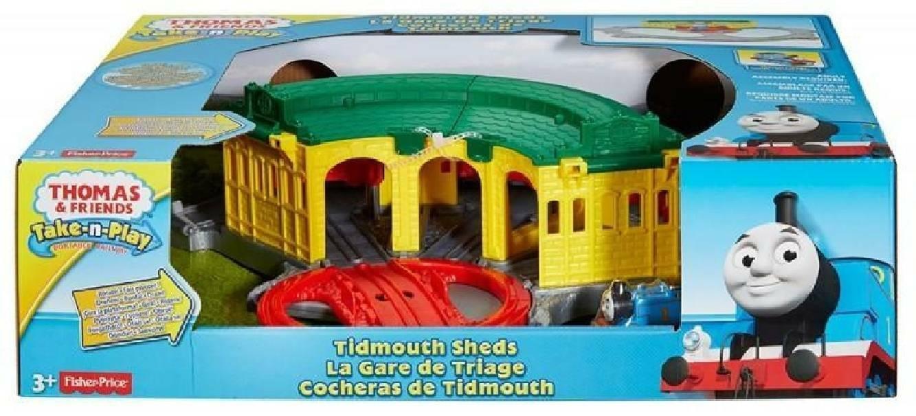 fisher price fisher price trenino thomasveicolo deposito di tidmouth