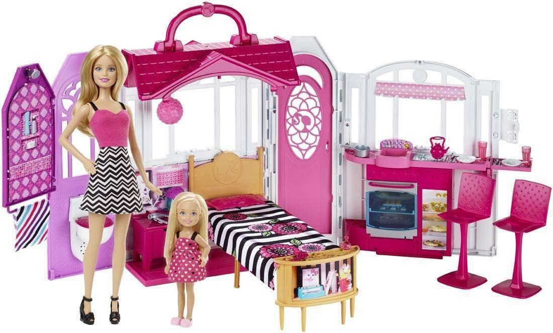 mattel mattel barbie casa glam bundle con barbie