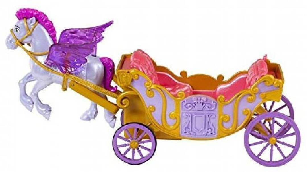 mattel mattel cavallo volante minimus della principessa sofia e carrozza