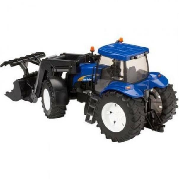 bruder bruder trattore new holland con benna