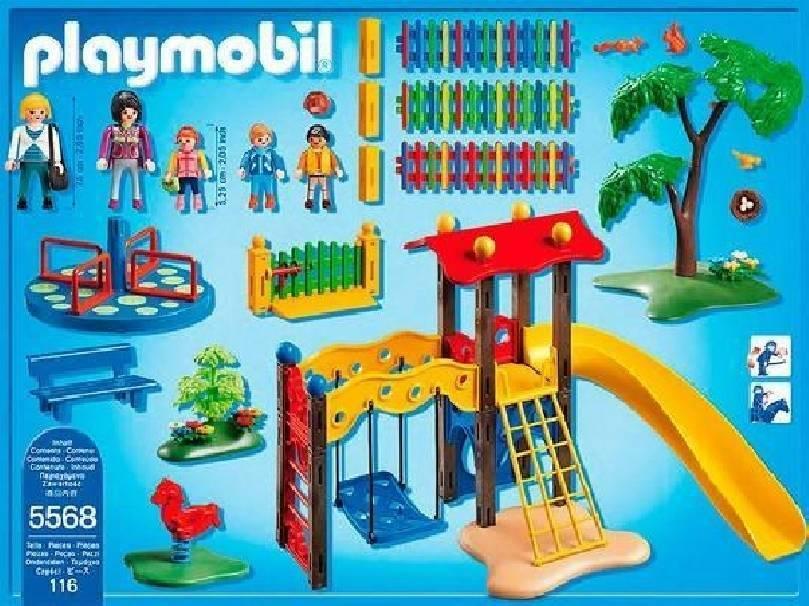 playmobil area gioco esterna per bambini playmobil 5568