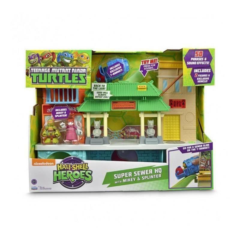 giochi preziosi giochi preziosi tartarughe ninja mini heroes quartier generale