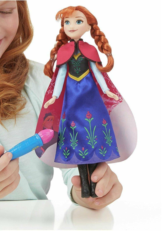 hasbro - mb hasbro - mb bambola frozen con mantello cambia colore anna e elsa