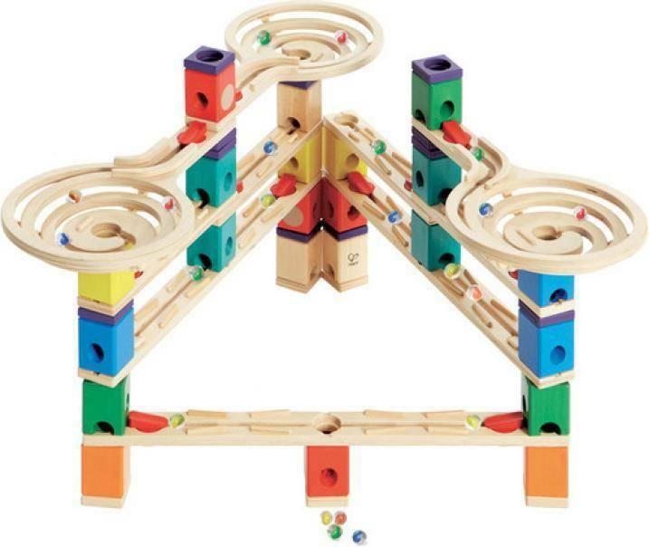 hape hape pista di biglie in legno quadrilla