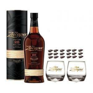 zacapa rum zacapa centenario 23   70cl   in astuccio  con 2 bicchieri zacapa e cioccolatini
