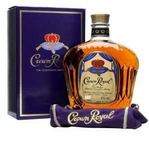 crown royal crown royal canadian blended whisky 1 litro in astuccio di velluto