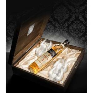 luigi francoli luigi francoli grappa 1905 barricata 3 anni in confezione regalo + 4 bicchieri