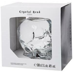 crystal head crystal head vodka 3 litri a forma di teschio in astuccio