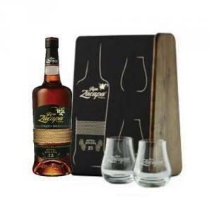 zacapa zacapa rum etiqueta negra 70 cl + 2 bicchieri confezione regalo