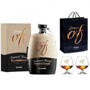 bonollo bonollo grappa of centennial reserve imperial taste  70 cl + ballon + shopper