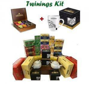 twinings twinings maxi kit tanti gusti assortiti, tazze e teiere omaggio, + box