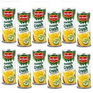 del monte del monte crush 240 ml pineapple juice ananas a pezzi (12 pz)
