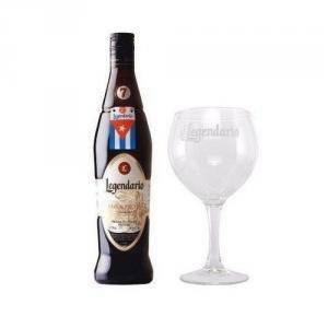legendario rum elixir 7 anni + 1 bicchiere vetro calice legendario