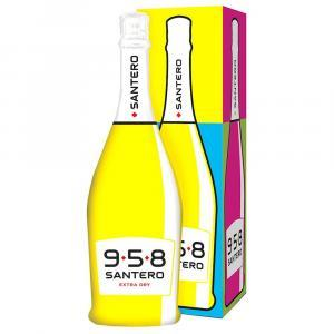 santero santero 958 spumante extra dry 75 cl bottiglia pop art in astuccio