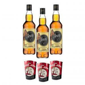 sailor jerry sailor jerry spiced caribbean rum  80 proof 70cl 3 bottiglie