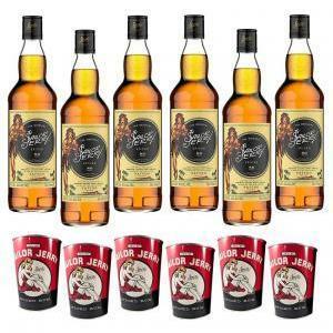 sailor jerry sailor jerry spiced caribbean rum  80 proof 70cl 6 bottiglie