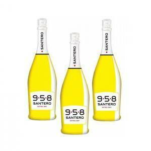 santero santero 958 spumante extra dry 75cl bottiglia pop art (3 bottiglie)