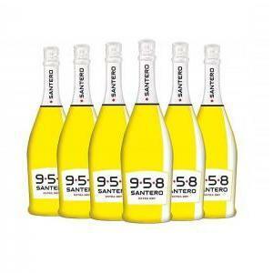 santero santero 958 spumante extra dry 75cl bottiglia pop art (6 bottiglie)