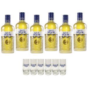 capri capri limoncello 1 litro 6 bottiglie  6 bicchieri spedizione gratis