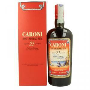 caroni caroni 100% trinidad rum 21 years extra strong imperial proof 70 cl in astuccio