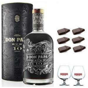 don papa rum don papa edizione speciale |10 anni | in astuccio con 2 balloon logo bianco