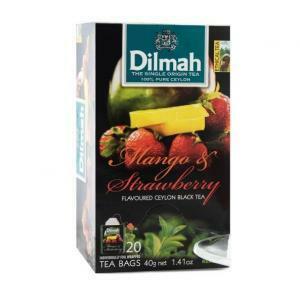 dilmah dilmah mango & strawberry ceylon black tea 20 pz