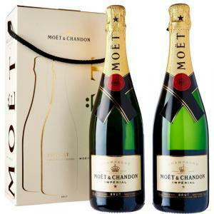 moet & chandon moet & chandon champagne reserve imperiale twin set 2 bottiglie confezione regalo 75 cl