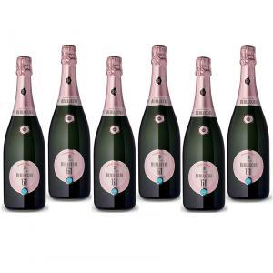 berlucchi berlucchi 61 franciacorta rose 75 cl in astuccio cartonato 6 bottiglie