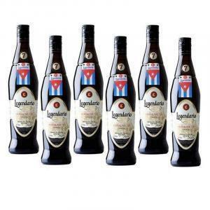 legendario rum legendario elixir de cuba   7 anni   6 bottiglie 70cl