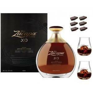 zacapa rum zacapa xo | 70 cl | in astuccio nuova bottiglia + 2 tumbler   cioccolato