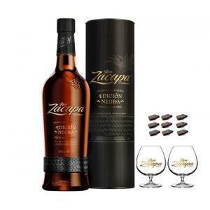 zacapa rum zacapa centenario 23 ediction negra   70cl   in astuccio con 2 balloon zacapa
