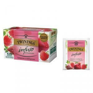 twinings twinings infuso aromatizzato lampone e melograno 20 pz