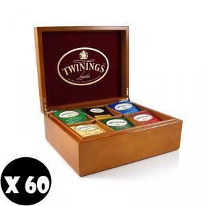 twinings twinings 60 filtri assortiti in box di legno originale