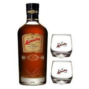 matusalem rum 23 gran reserva 70 cl  in astuccio + 2 bicchieri matusalem