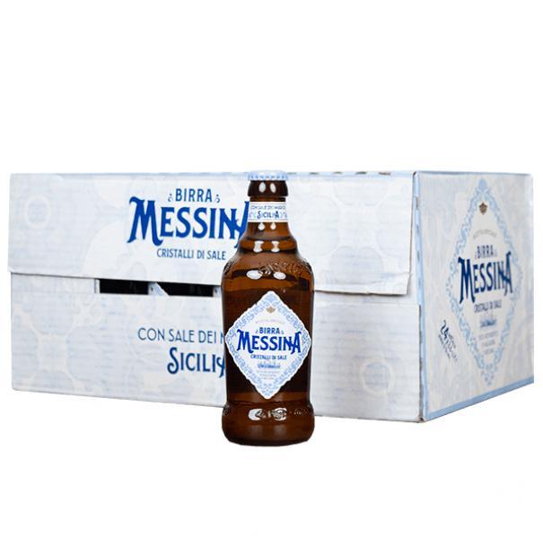 messina messina birra cristalli di sale 33 cl 24 bottigliette